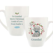 Personalised Me to You Blue Scarf Christmas Latte Mug
