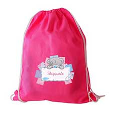 Personalised Me to You Bear Pink Drawstring Bag