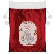 Personalised Me to You Reindeer Luxury Pom Pom Christmas Sack