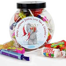 Personalised Me to You Bear Christmas 250g Sweet Jar