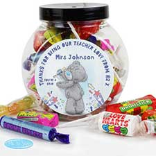 Personalised Me to You Bear Teacher 250g Sweet Jar