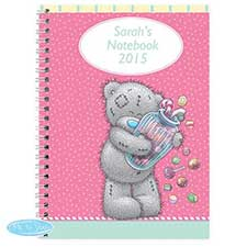 Personalised Me to You Bear Candy Girl A5 Notebook