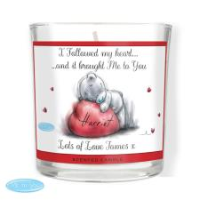 Personalised Me to You Bear Heart Scented Jar Candle