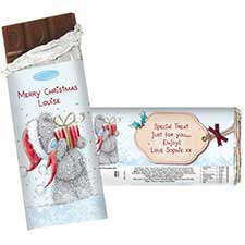 Personalised Me to You Bear 100g Christmas Chocolate Bar
