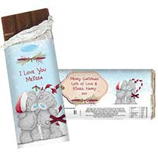 Personalised Me to You Couple Christmas Chocolate Bar