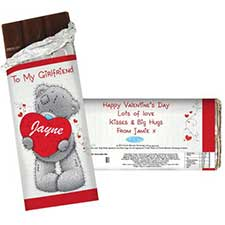 Personalised Me to You Bear Love Heart 100g Chocolate  Bar