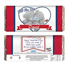 Personalised Me to You Love Heart Couple 100g Chocolate  Bar