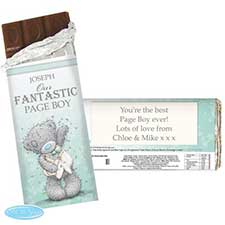 Personalised Me to You Page Boy Usher Wedding Chocolate Bar