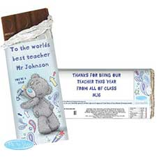 Personalised Me to You Bear Teacher 100g Chocolate Bar
