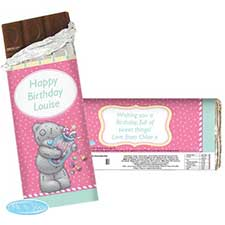 Personalised Me to You Bear Candy Girl 100g Chocolate Bar