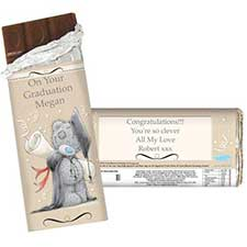 Personalised Me to You Bear Graduation 100g Chocolate Bar