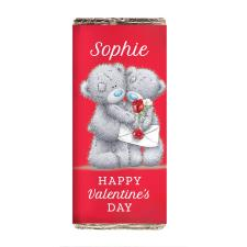 Personalised Me to You Bear Red Roses Milk Chocolate Bar