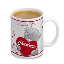 Personalised Me to You Bear Love Heart Mug