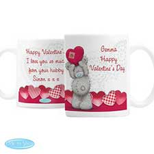 Personalised Me to You Bear Heart Mug