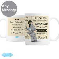 Personalised Me to You Bear Typographic Mug