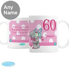 Personalised Me to You Bear Pink Birthday Mug