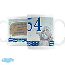 Personalised Me to You Bear Blue Birthday Mug
