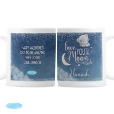 Personalised Love You to the Moon & Back Me to You Mug