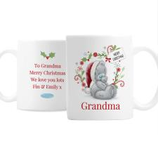 Personalised Me to You Bear Tatty Teddy Christmas Mug