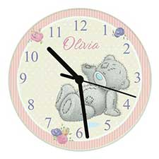 Personalised Me to You Bear Glass Wall Clock