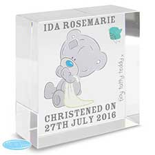 Personalised Tiny Tatty Teddy Medium Crystal Block