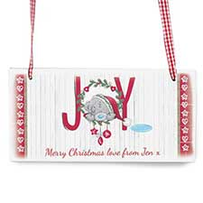 Personalised Me To You Christmas Joy Wooden Plaque