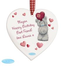 Personalised Me to You Bear Heart Wooden Decoration