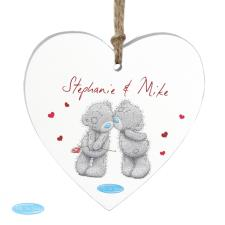 Personalised Me to You Bear Couples Wooden Heart Decoration