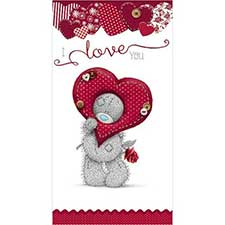 Looking through Heart Me to You Bear Valentine's Day Card