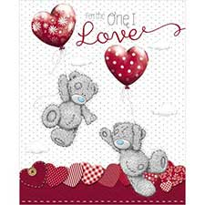 One I Love Balloons Me to You Bear Valentine's Day Card