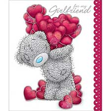 Girlfriend Luxury Me to You Bear Valentines Day Card