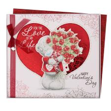 Love Of My Life Giant Me to You Bear Valentines Day Boxed Card