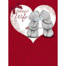 Beautiful Wife Large Me to You Bear Valentines Day Card