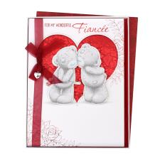 Fiancee Large Me to You Bear Valentines Day Boxed Card