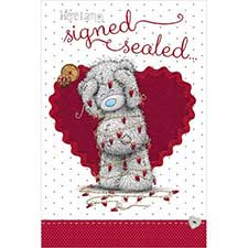 Signed & Sealed Me to You Bear Valentine's Day Card