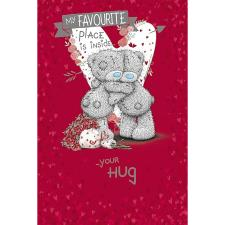 Bears Hugging Me to You Bear Valentines Day Card