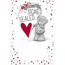 Signed Sealed Delivered Me to You Bear Valentines Day Card