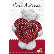 One I Love Me to You Bear Pop Up Valentine's Day Card