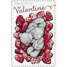 Valentine Cuddles Me to You Bear Valentine's Day Card