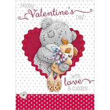 Tatty Teddy with Dog Me to You Bear Valentine's Day Card
