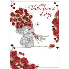 Tatty Teddy With Bouquet Me to You Bear Valentines Day Card