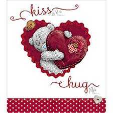 Kiss Me Hug Me Me to You Bear Valentine's Day Card