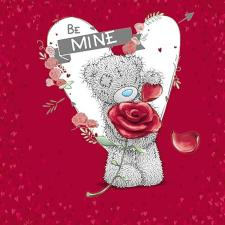 Be Mine Me to You Bear Valentines Day Card