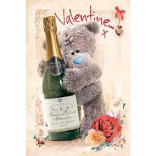 Tatty Teddy Champagne Me to You Bear Valentines Day Card