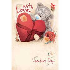 With Love Photo Finish Me to You Bear Valentines Day Card
