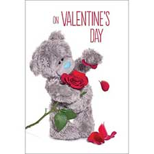 3D Holographic Rose Me to You Bear Valentines Day Card