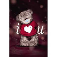 3D Holographic I Love U Me to You Valentine's Day Card