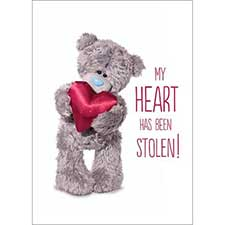 3D Holographic Heart Me to You Bear Valentines Day Card