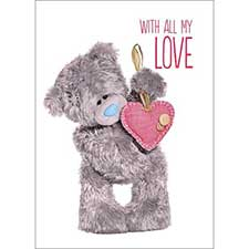 3D Holographic All My Love Me to You Bear Valentines Day Card