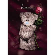 3D Holographic Love You Valentine's Day Card